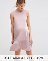Asos Shift Dress With Peplum Hem