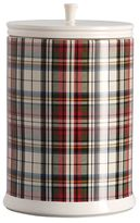 Pottery Barn Plaid Cookie Jar
