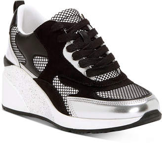 INC International Concepts Inc Hadya Lace-Up Wedge Sneakers, Women Shoes