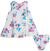 Joules Floral A-Line Dress w/ Matching Bloomers, Size 6-24 Months
