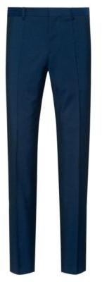 HUGO Slim-fit trousers in textured virgin wool