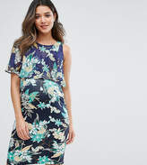 Gebe Maternity Nursing Printed Double Layer Dress