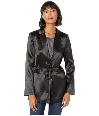 BCBGMAXAZRIA Jacket with Tassel Tie