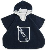 Armani Junior Hooded Terrycloth Bathrobe & Wash Mit