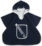 Armani Junior Hooded Terrycloth Bathrobe & Wash Mit