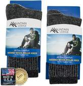 2pk Men's or Women's Mountain Lodge 80% Merino Wool Socks Thermal Hiking Crew