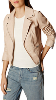 Karen Millen Summer Leather Jacket, Nude