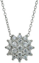 Giani Bernini Cubic Zirconia Cluster Pendant Necklace in Sterling Silver, Only at Macy's