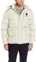 U.S. Polo Assn. Men's Classic Bubble Jacket with Polar Fleece Lining and Large Logo