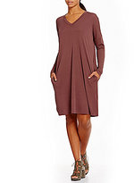Eileen Fisher V-Neck Long Sleeve Dress