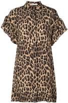 Alice + Olivia Jude leopard print shirt dress