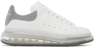Alexander McQueen White and Silver Clear Sole Oversized Sneakers