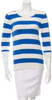Kate Spade Striped Three-Quarter Sleeve Sweater