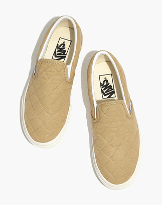 Madewell x Vans Unisex Classic Slip-On Sneakers in Quilted Fabric
