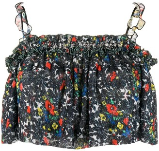 Missoni Floral-Pattern Cropped Top