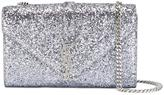Saint Laurent 'Monogram' glitter shoulder bag - women - PVC - One Size