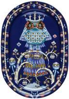 Iittala Taika Oval Serving Platter, Blue, 41cm