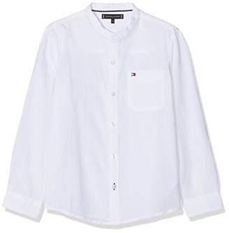 Tommy Hilfiger Boy's Essential Cotton Linen Shirt L/s Blouse,164 (Size: )