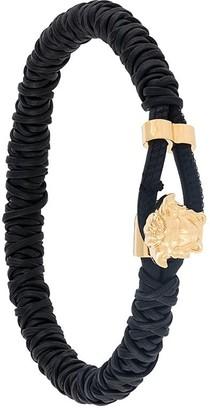 Versace Medusa head braided bracelet