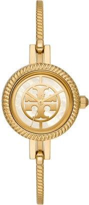 Tory Burch Reva Bangle Watch Gift Set, Gold-Tone Stainless Steel/Multi-Color, 29 MM