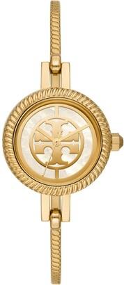 Tory Burch Reva Bangle Watch Gift Set, Multi-Color/Gold-Tone, 29 Mm