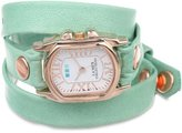 La Mer Women's LMCHATEAU1002 Melon Rose Gold Chateau Wrap Watch