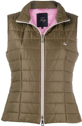 Fay Embroidered Logo Gilet