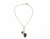 Chanel Black Enamel CC Camellia Charm Bracelet