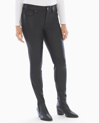 Soma Intimates Slimming Coated 5 Pocket Jeans Black