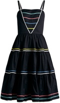 ANNA OCTOBER Ric-rac trimmed cotton dress
