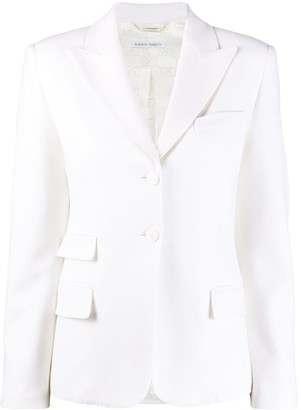 Alberta Ferretti Single-Breasted Tailored Blazer
