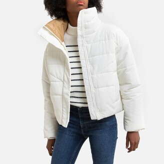 Converse Zipped Puffer Jacket with Stand-Up Collar