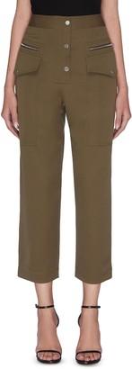 3.1 Phillip Lim Patch pocket zip button cropped pants