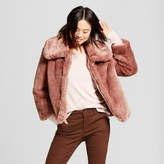 A New Day Women's Faux Fur Coat - A New Day Smoked Pink