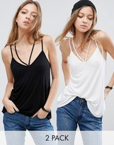 Asos The Ultimate Cami With Caging Detail 2 Pack