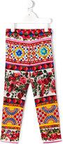 Dolce & Gabbana Mambo print leggings - kids - Silk/Spandex/Elastane - 2 yrs