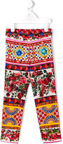 Dolce & Gabbana Mambo print leggings - kids - Silk/Spandex/Elastane - 6 yrs