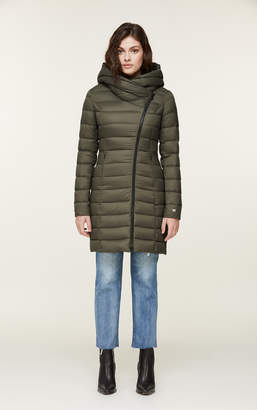 Soia & Kyo KARELLE lightweight down coat with asymmetrical closure