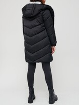 Thumbnail for your product : Very Faux Fur Collar Padded Coat - Black
