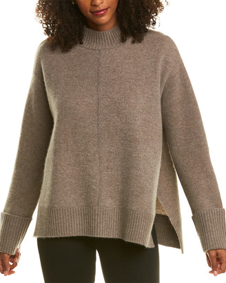 Magaschoni Mock Cashmere-Blend Sweater