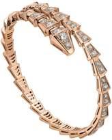 Bvlgari Slim Rose Gold and Diamond Serpenti Bracelet
