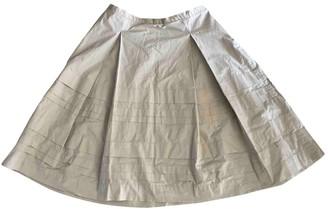 Marella Beige Cotton Skirt for Women