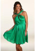 Halston Knot Front Dress