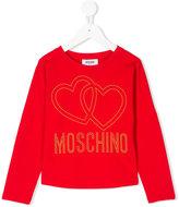 Moschino Kids - heart logo top - kids - Cotton/Spandex/Elastane - 4 yrs