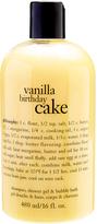 philosophy Vanilla Birthday Cake 16-Oz. 3-in-1 Shampoo Shower Gel & Bubble Bath