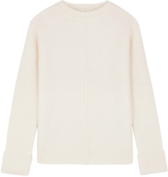The Row Annegret Ivory Boucle Cashmere-blend Jumper