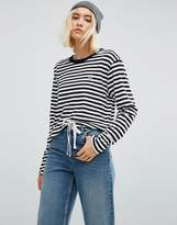 Obey Oversized Long Sleeve T-Shirt In Pirate Stripe