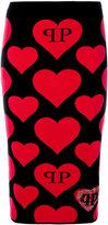 Philipp Plein heart intarsia-knit skirt - women - Polyester/Viscose - XS