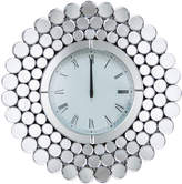 Abbyson Jameson Round Wall Mirror Clock