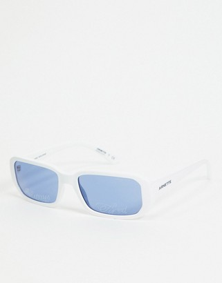 Arnette x Post Malone white square sunglasses